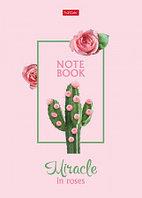 Записная книжка Hatber80л А5 без линовки белый розовый блок ламинация твердый переплет Сегодня я роз