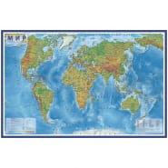 """Карта """"Мир"""" физическая Globen, 1:25млн., 1200*780мм, интерактивная, с ламинацией, европодвес"""