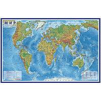 """Карта """"Мир"""" физическая Globen, 1:29млн., 1010*660мм, интерактивная, с ламинацией, европодвес"""