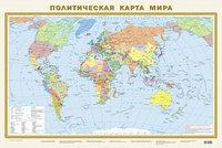 Карта мира политическая 1:40 млн ламинир.870х580 мм