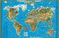 Карта мира. Для детей.Карта в тубусе.116*79