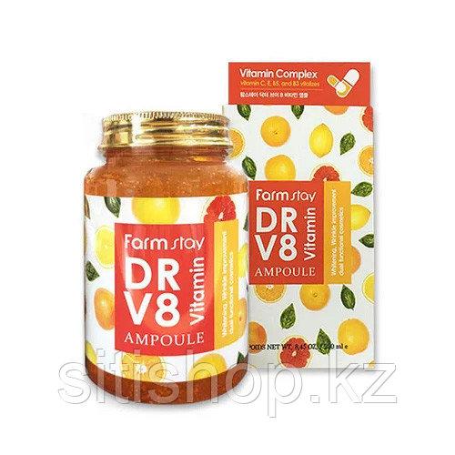 Farm Stay DR-V8 Vitamin Ampoule (250 мл) - Многофункциональная мультивитаминная сыворотка