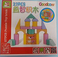 Кубики деревянные Собери башню 27 дет 3+