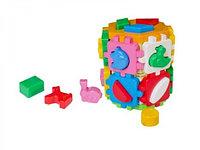 Логическая игрушка сортер Умный малыш Большой куб Арт2001