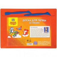 Набор для лепки Мульти-Пульти, доска А4+2 стека, полистирол, оранжевый