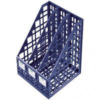Лоток для бумаг вертикальный Стамм сборный 3 отделения темно-синий ЛТ811