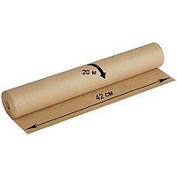 Крафт-бумага в рулоне для упаковки OfficeSpace, 420мм*20м, плотность 78г/м2