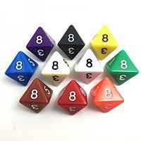 Кубик игральный 8-гранный 15см цветной
