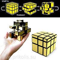 Кубик рубик с изменяющейся формой Золото,серебро 3*3*3