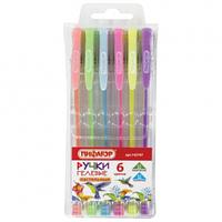 Набор ручкек гелевых пастельные 6 цветов Пифагор