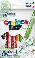 Набор фломастеров для ткани Carioca Fabric Liner 10 цветов европодвес