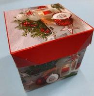 Новогодние коробки складные 10*10
