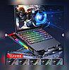 """Игровая подставка-кулер для ноутбука 18""""  с боковой RGB подсветкой, фото 6"""