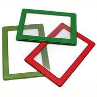 Обложка-карман для проездных документов ДПС с цветной рамкой 75*105мм ПВХ ассорти №2862