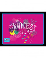 Папка для труда пластиковая А4 на молнии, Princess girl ,Пчелка
