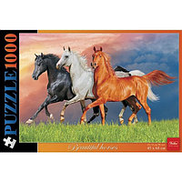 Пазл 1000 элементов, А2, Красивые лошади , 450х680 мм