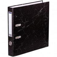 Папка-регистратор OfficeSpace 50мм, мрамор, черная, бюджет 251890