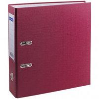 Папка-регистратор OfficeSpace70мм бумвинил с карманом на корешке бордовая