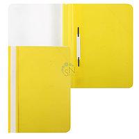 Папка-скоросшиватель пластик Hatber перфорация, прозрачный верх, жёлтая205
