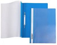 Папка-скоросшиватель пластик. верх прозр Хатбер 120/160мкм синяя