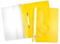 Папка-скоросшиватель пластик. верх прозр Хатбер желтая