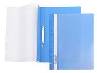 Папка-скоросшиватель пластик. верх прозр Хатбер с перфорацией 140/180мкм синяя