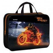 """Папка-сумка с ручками 350*265*80 Berlingo """"Energy"""", А4, 1 отделение, текстиль, на молнии"""