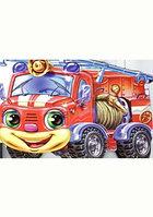 Ранок Книжка-вырубка Озорные машинки Өрт с ндіру машинасы (пожарная машина)