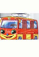 Ранок Книжка-вырубка Озорные машинки Трамвай