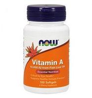 Витамин А NOW Vitamin A 10000IU 100 капсул