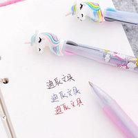 Ручка шариковая 3-цветная Единорог/Сова