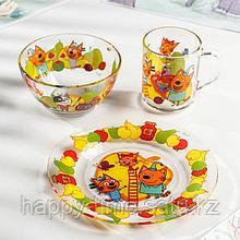 Набор посуды детский Priority «Три кота фрукты»