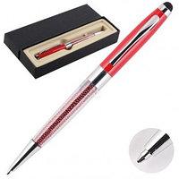 Ручка шариковая подарочная deVente корпус красный стилус