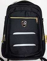 Рюкзак 32*47*11см, 2 отделения, 5 карманов, анатомическая спинка, черный,синий