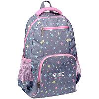 """Рюкзак ArtSpace School """"Shine"""", 44*31*16см, 1 отделение, 4 кармана, уплотн. спинка"""