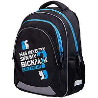 """Рюкзак Berlingo Bliss """"My bag blue"""" 40*29*19см, 3 отделения, 2 кармана, анатомическая ЭВА спинка"""