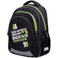 """Рюкзак Berlingo Bliss """"My bag green"""" 40*29*19см, 3 отделения, 2 кармана, анатомическая ЭВА спинка"""