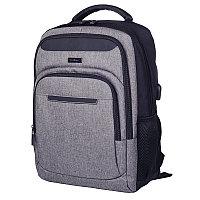 Рюкзак Berlingo Citi blue 42*29*17 см 3 отд 3 карм отд для ноутбуков USB