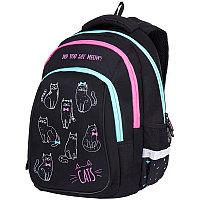 """Рюкзак Berlingo Comfort """"Cats"""" 38*27*18см, 3 отделения, 3 кармана, эргономичная спинка"""