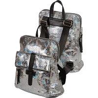 Рюкзак deVENTE 31x28x12 см, жатая зеркальная искусственная кожа