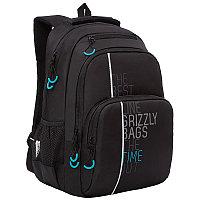 Рюкзак Grizzli 26*38*20см 2 отделения 4 кармана анатомическая спинка