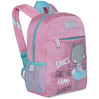 Рюкзак детский Grizzly, 22*28*10см, 1 отделение, 3 кармана, мягкая спинка, розовый