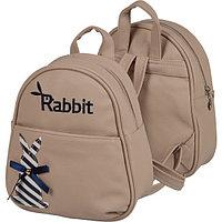 """Рюкзак подростковый """"Кролик"""" deVENTE 23*21*10см,кож.зам.,бежевый7032961"""