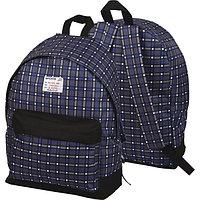 Рюкзак подростковый deVente 1 отделение, 1 передний карман черно-синяя клетка 7033847
