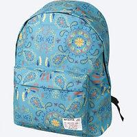 Рюкзак школьный DeVente бирюзовый с пейсли 7033639
