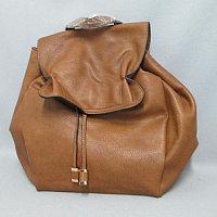 Рюкзак-сумка женская DJ 1356 35*32*15 экокожа. т. -бежевый