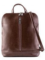 Рюкзак-сумка женский Slavia экокожа коричневая