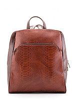 Рюкзак-сумка женский Slavia экокожа коричневая крокодил