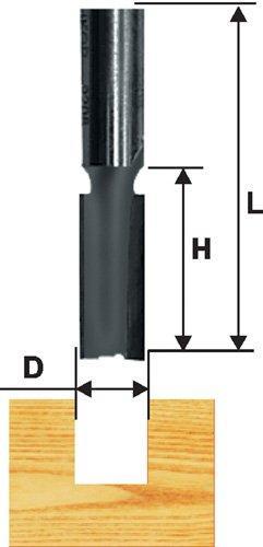 Фреза пазовая прямая ф12x51мм хв 12мм ДСП