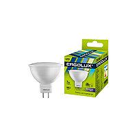 Эл. лампа светодиодная Ergolux LED-JCDR-7W-GU5.3-6K, Дневной